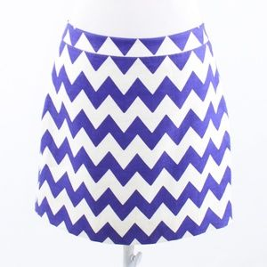 Purple chevron Kate Spade A-line skirt 8